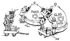 Illustration til genbrugskampagne